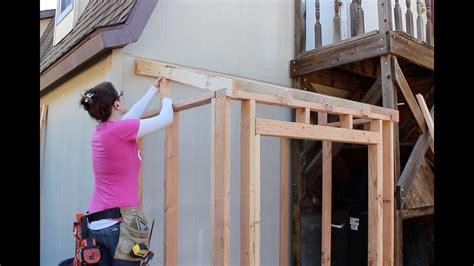 build  lean  framing  adding siding part
