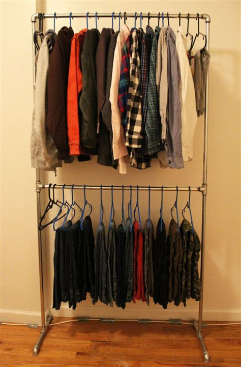 diy clothes rack 23 pipe clothing rack diy tutorials guide patterns