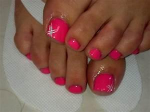 pedicure ideas   pink pedicure   Nail It   Pinterest ...