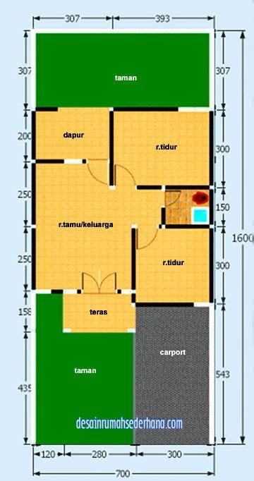 desain rumah minimalis sederhana type  luas tanah