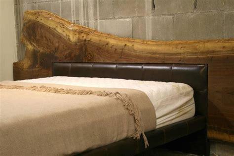 edge american black walnut bed frame  leather