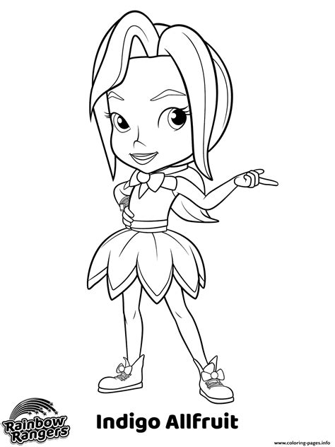 Coloring Pages Printable by Prankster Rainbow Rangers Coloring Pages Printable