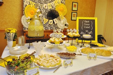 bee baby shower baby shower ideas themes