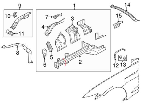 Structural Components Rails For Ford Mustang