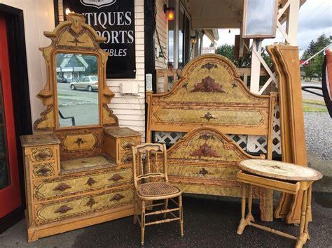 antique  victorian cottage handpainted bedroom set