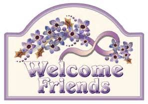 Welcome Friends Sign Clip Art