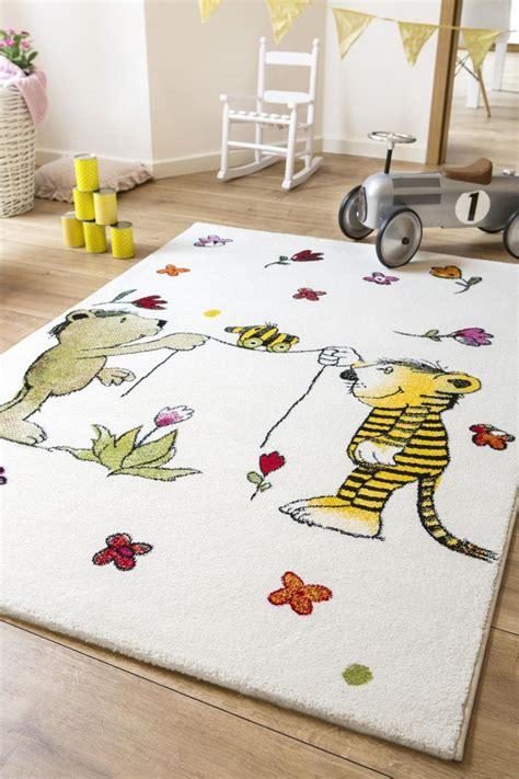 Janosch Kinderteppich Blumenregen  Kinderzimmer Träume