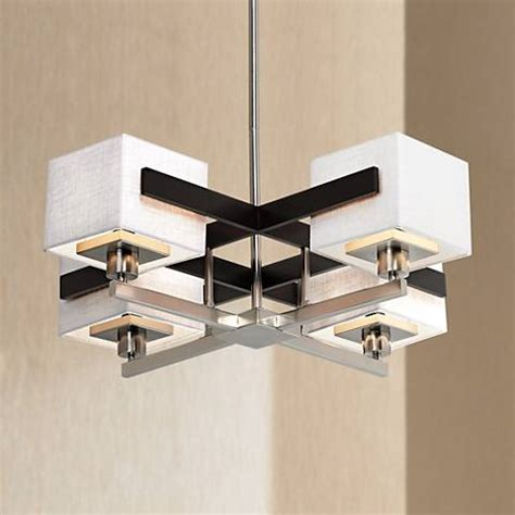 Possini Design Chandelier by Possini Design Mirrored Grids Metal And Wood