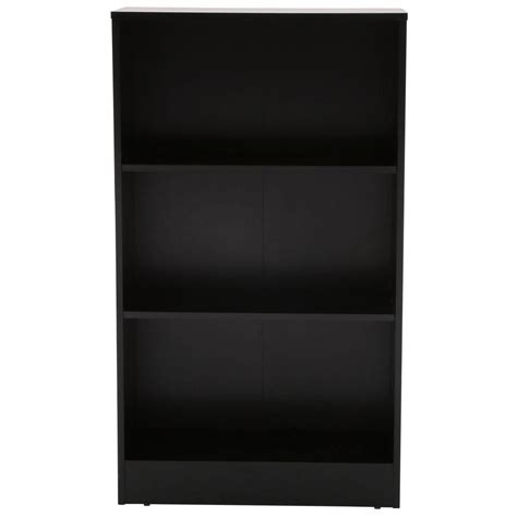 Black 3 Shelf Bookcase hton bay black 3 shelf bookcase thd90003 2a of the