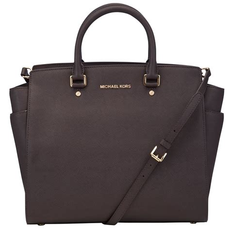 michael michael kors selma large tote handbag in black