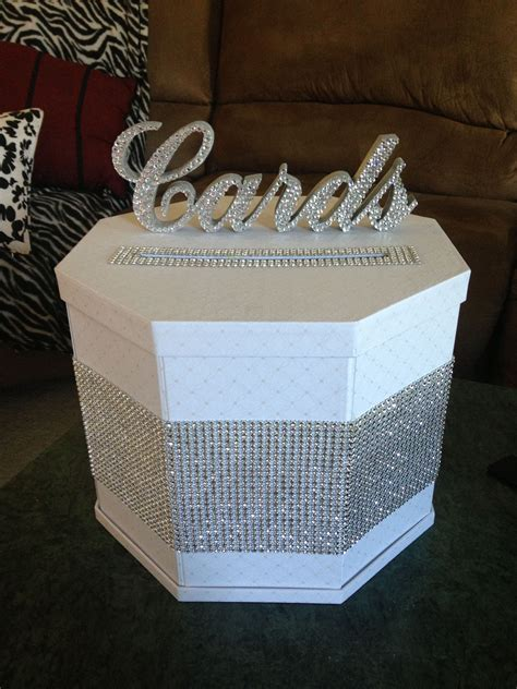 diy blinged out gift card box bling pinterest box