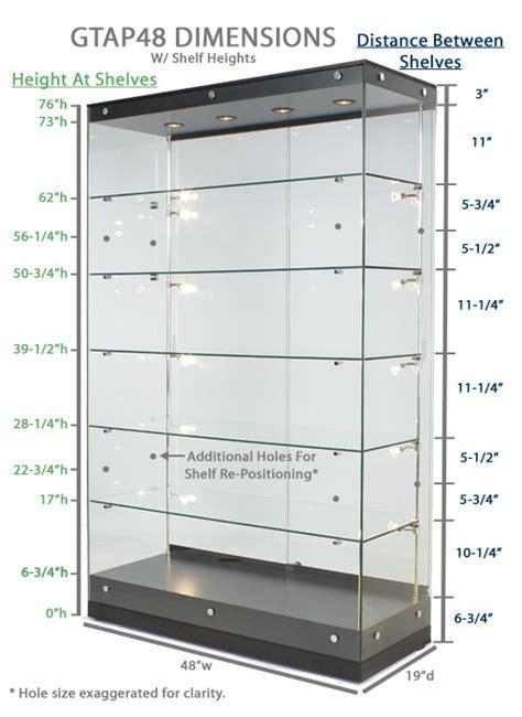 Black MDF Display Cases   Canopy Top   Top & Side Lighting