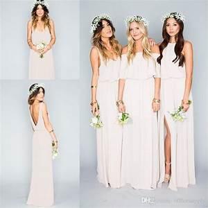 new arrival 2017 summer beach bohemian bridesmaid dresses With boho wedding bridesmaid dresses