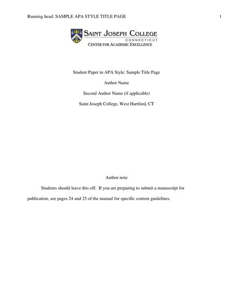 Student Paper Title Page | Templates at