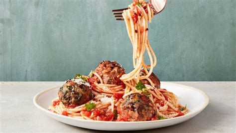 test kitchens favorite spaghetti  meatballs