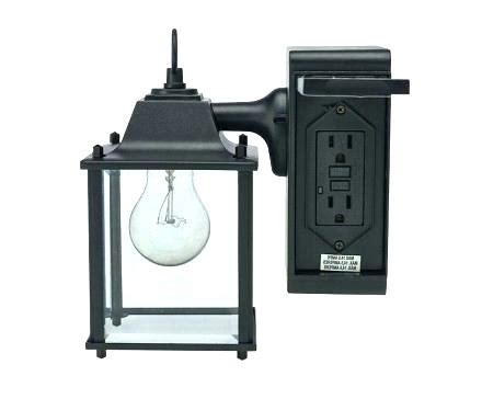 outdoor wall lights  gfci outlet