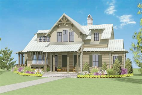 Exclusive Craftsman Farmhouse Home Plan With Porches