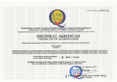 akreditasi poltekkes permata indonesia yogyakarta