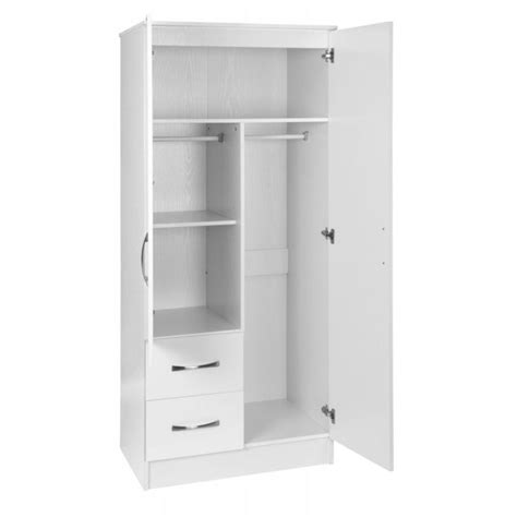 White Wardrobe With Drawers And Shelves by 15 Collection Of White 2 Door Wardrobes With Drawers