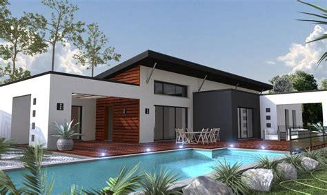 plan maison contemporaine plain pied 4 chambres maison moderne sur mesure 44 56 85 depreux construction