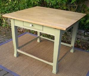 Ancienne Table Billot De Cuisine De Forme Carre Plateau Htre