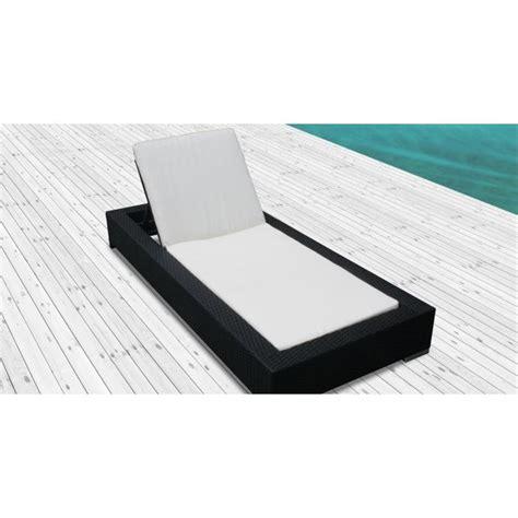 chaise longue resine tressee le pereza bain de soleil en résine tressée achat