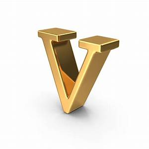 gold small letter v png images psds for download With small gold letters