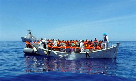 Refugee Boat Italy by Migrant Crisis Continues As Hundreds Of Refugees In Just