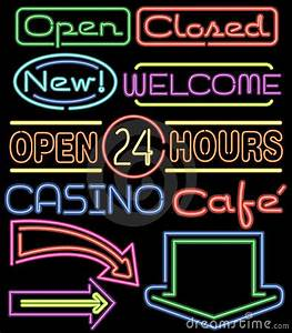 Neon Signs ai Royalty Free Stock Image