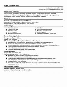 perioperative nurse resume examples free to try today With great nursing resume