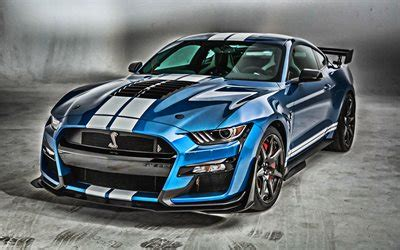 wallpapers  mustang shelby gt blue