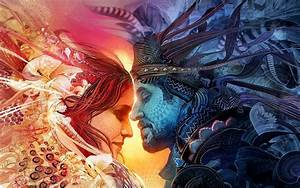 Download Endless Love Couple Art Wallpaper for desktop ...