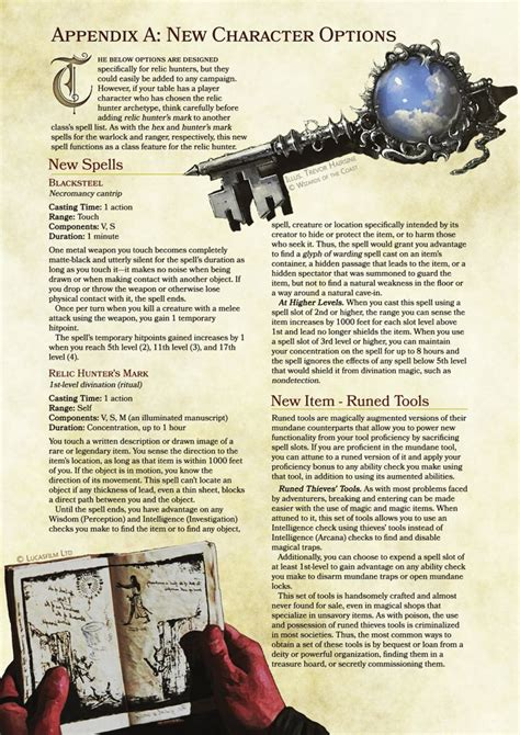 5e dungeons dragons dnd homebrew rogue relic pathfinder hunter magic rogues rpg key items weapons monster rules fantasy portal class