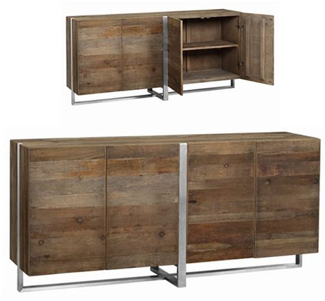 dovetail kitchen cabinets reclaimed elm wood mirrored sideboard buffet zin home 3448