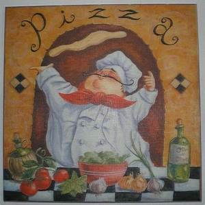 g allen fat chef pizza canvas wall art print home kitchen With kitchen colors with white cabinets with fat chef wall art