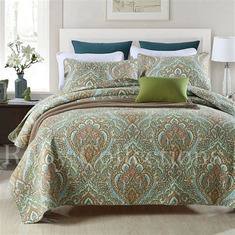 king quilted bedspread vintage cotton quilted bedspread coverlet throw blanket 3pcs double queen king ebay