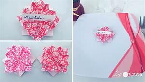 Porte Serviette Papier : origami fleur porte nom pour une jolie table ~ Teatrodelosmanantiales.com Idées de Décoration