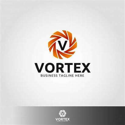 Vortex Premium Letter Logotipo Plantilla Letra Template