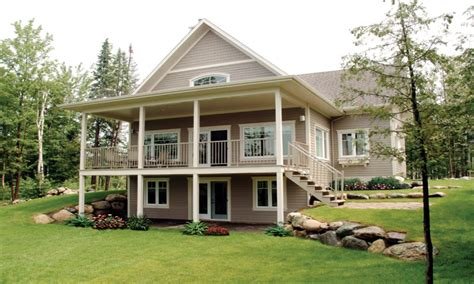 Level Basement Floor Mountain House Plans With Walkout