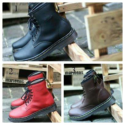 sepatu boot dr martens docmart boots murah maroon black