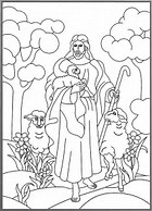 HD wallpapers coloring page jesus with sheep wallpaperloveknngd
