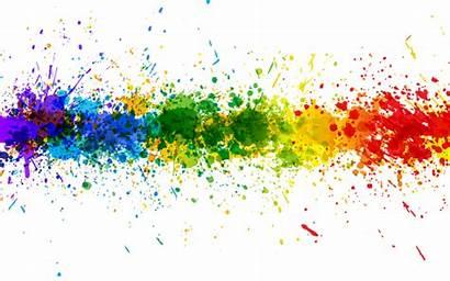 Transparent Paint Background Splash Colorful Rainbow Line