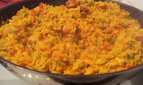 recette riz cuisiné riz au poulet à l 39 espagnole recette az