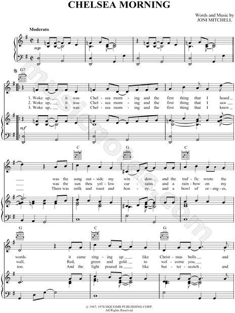 sheet music chelsea morning joni mitchell love in 2019