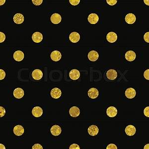Black and gold pattern Abstract polka dot background