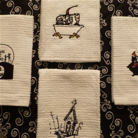 nightmare before embroidered towels set of four skellington sally zero mayor