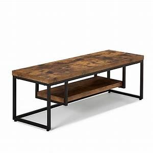 Meuble Bois Et Acier : meuble tv style industriel effet bois et acier manille d coration int rieur alin a ~ Teatrodelosmanantiales.com Idées de Décoration