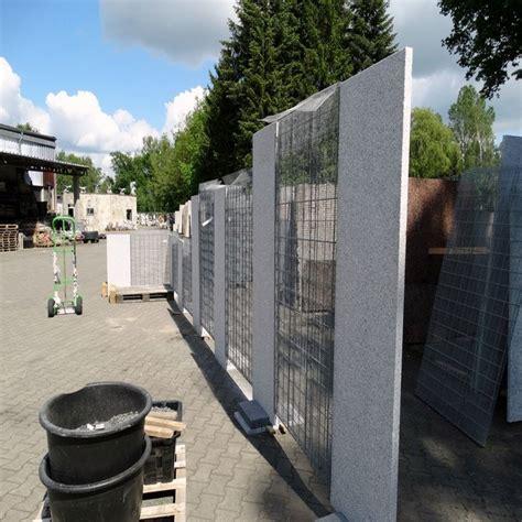 Sichtschutz Garten Granit by Granit Sichtschutz Und Zaun Element Hellgrau 10 X 100 Cm