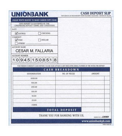 blank withdrawal slip available payment options a 50 payment is required