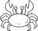 Crab Simple Drawing Coloring Getdrawings Pages sketch template